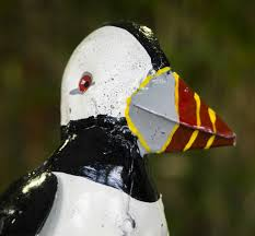 puffin handmade recycled metal garden ornament by chi africa