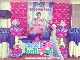Wall Decoration With Balloons by Jerron Jyll U0027s Birthday U2013 Frozen Theme Party Eleven36 Party