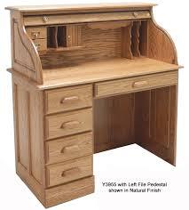 solid oak roll top desk w solid oak single pedestal roll top desk