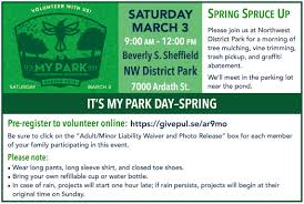 support nw park it s my park day this sat 3 3 or amplify or