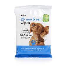 wilko dog eye and ear wipes 25pk at wilko com