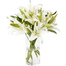 Artificial Lilies In Vase Send Flowers For An Anniversary In Spain By Spanish Florists