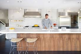 Modern Kitchen Island With Seating Remodeled Kitchen And Breezy Interiors Light Up The Moraga Residence