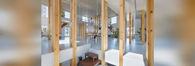 mamiya shinichi u0027s work studio is supported by forest timber