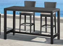 Patio Furniture Pub Table Sets - zuo modern anguilla bar height outdoor table 701144
