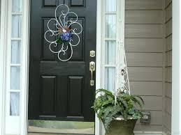 front door cozy garland front door ideas mesh garland front door