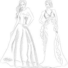 How To Draw Fashion Designs Fashion Design Coloring Pages Bestofcoloring Com