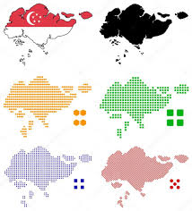 Map Of Singapore Pixel Map Of Singapore U2014 Stock Vector Tshooter 2489326