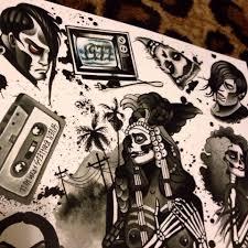 misfits 1977 tattoo flash sheet