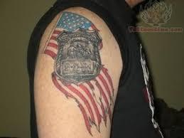 burning american flag tattoo on shoulder photo 3 photo