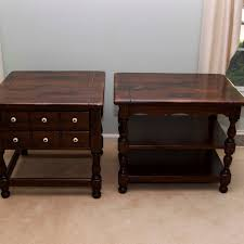 ethan allen end tables pair of vintage ethan allen end tables old tavern collection ebth