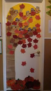 tree door decorations decor and i would add the handprints summer