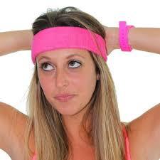 80 s headbands pink neon headbands