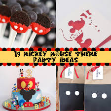 mickey mouse theme on a budget