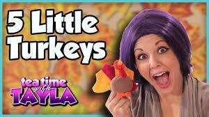 Preschool Songs For Thanksgiving Thanksgiving Songs For Children Five Little Turkeys Youtube