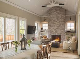ceiling fan in dining room decor modern ceiling fans with stone fireplace and wood table