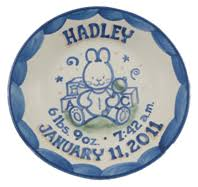 personalized pie plate ceramic personalize pottery stoneware hadley pottery