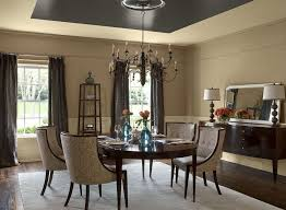 diningoom colors chairail decor ideas and wood trim color with oak