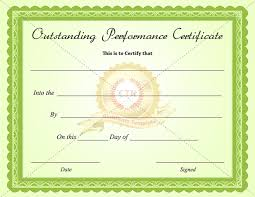fun certificate templates outstanding performance certificate template