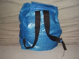 recycled ikea bag backpack 4 steps with pictures