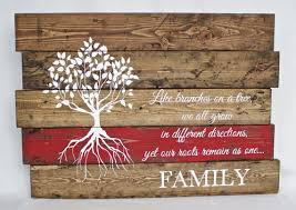 wood family sign family quote sign reclaimed wood wall