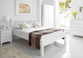 White Wood Bed Frame Time4sleep