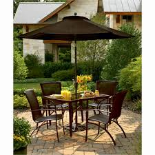 Black Patio Furniture Sets - fabulous patio dining room set design with metal chairs and