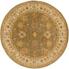 Moss Rug Green Round1 U0027 6 U0027 Round Area Rugs Rugs The Home Depot