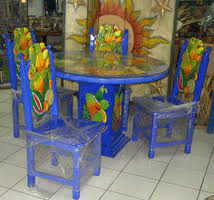 Mexican Dining Room Furniture Mexican Carved Chairs Table Doors