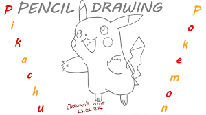 how to draw pokemon go pikachu easy for kids pencil