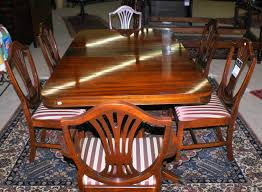 mahogany dining room set pictured above is a mahogany duncan phyfe pedestal dining