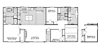 Floor Plans For Trailer Homes The Carrington Ml30643c Manufactured Home Floor Plan Or Modular
