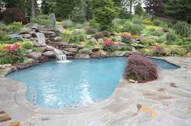 Backyard Swimming Pool Landscaping Ideas Backyards Get More Beautiful With Elegant Pool Landscapes Home