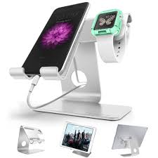 Phone Charging Stand by Zve 2 In 1 Universal Apple Iwatch Charging Stand Aluminium Desktop