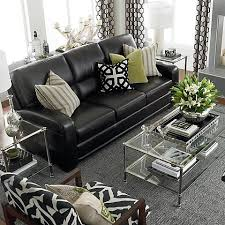 Living Room Ideas With Black Leather Sofa How To Decorate A Living Room With A Black Leather Sofa Black