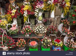 Flowers For Sale Colourful Bouquets Of Flowers For Sale Outside Ben Thanh Market