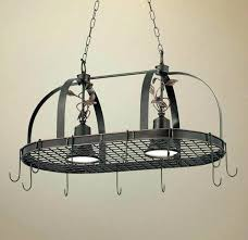 kitchen pot racks with lights lighted pot rack kitchen island pot rack lighting rustic style