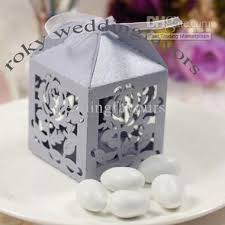 wedding party favor boxes light purple laser cut lantern style boxes wedding favors