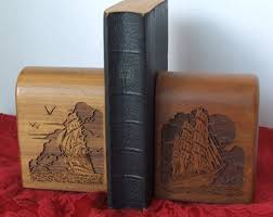 unique bookends for sale wood bookends etsy