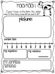 addition subtraction story problem worksheets freebie students