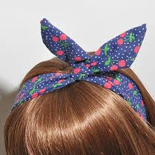 ribbon hair bands sweet bunny conejo oreja cinta de alambre de metal diadema bufanda