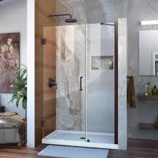 Showers Door Dreamline Unidoor 47 In X 72 In Semi Frameless Hinged Shower