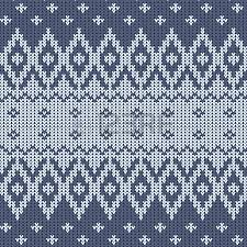 traditional knitted ornamental pattern with snowflakes