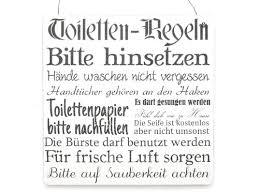 wc sprüche xl shabby vintage schild türschild toiletten regeln bad toilette