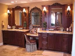 Master Bathroom Vanities Ideas Brown Varnished Bathroom Vanity Marble Top And Sink