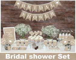 bridal decorations rustic bridal shower decorations etsy