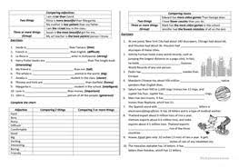 33 free esl adjectives and nouns worksheets
