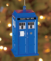 kurt adler 4 5 inch doctor who tardis mold plastic ornament