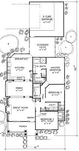 long house floor plans narrow footprint 3043d architectural designs house plans