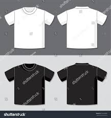 tshirt vector template front back view stock vector 757628068